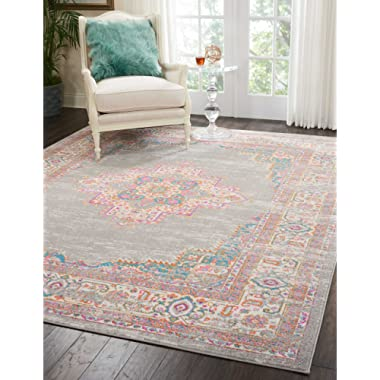 Nourison Passion Grey Area Rug, 8' x 10',