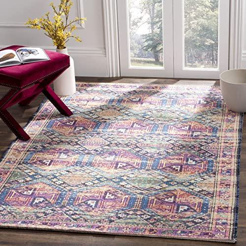 Safavieh Saffron Collection Abstract Area Rug, 5 x 8 , Purple Blue