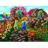 Jigsaw Puzzle - Fun & Easy: When We were Kids - 300 Unique Pieces - Made in The USA by Color Craft Puzzles - Challenge Any Puzzle Lover
