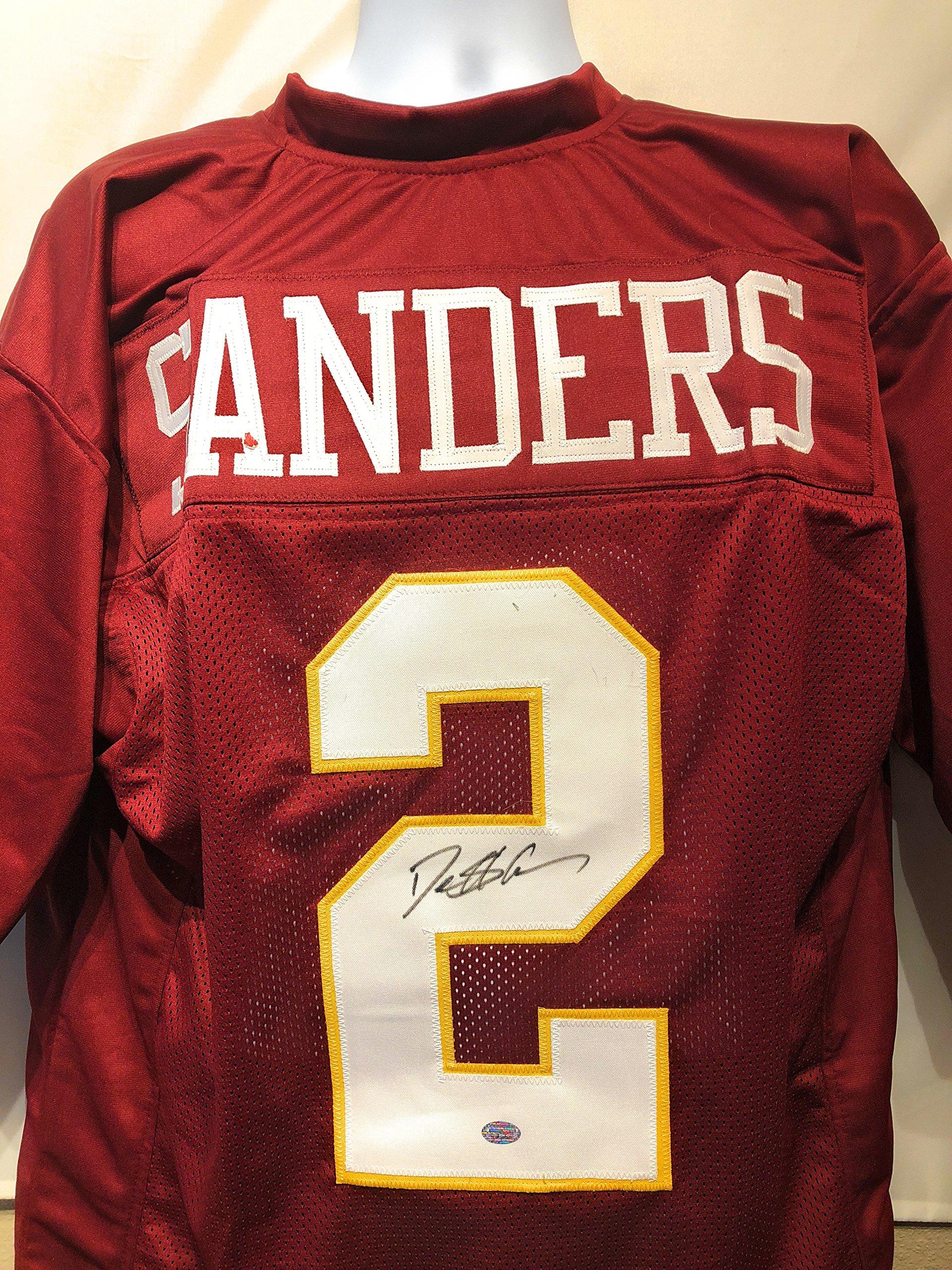 Deion Sanders Florida State Signed Autograph Maroon Custom Jersey Sanders GTSM Hologram Certified