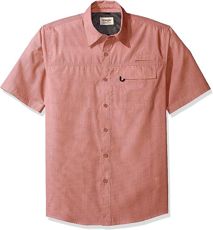 Wrangler Authentics Men's Short Sleeve Utility Shirt best men's fishing shirt