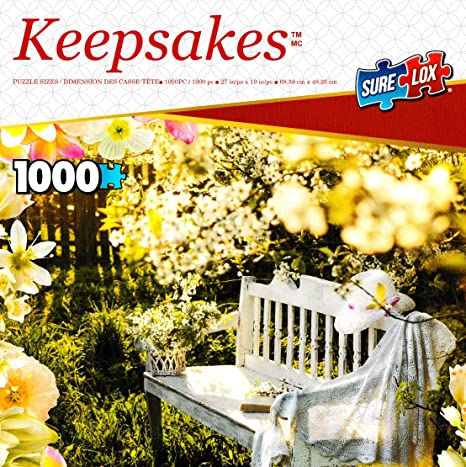 Garden Retreat 1000 Piece Jigsaw Puzzle by Sure-Lox tcgtoys Keepsakes Collection