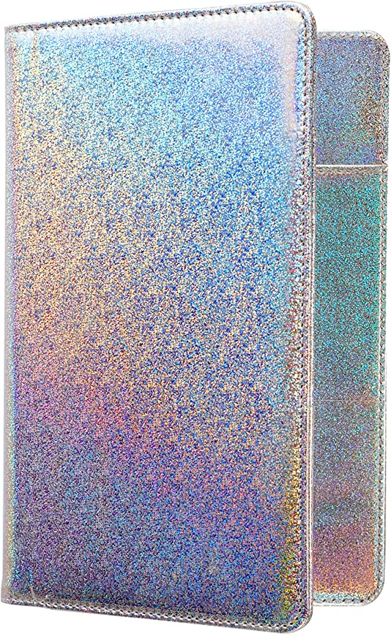 of Course Holographic Glitter Server Book for Waitress and Waiter Zipper Pock...