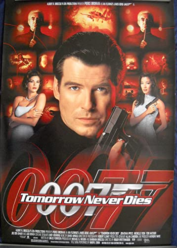 Tomorrow Never Dies Movie Poster Pierce Brosnan James Bond