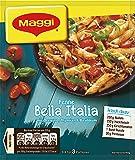 MAGGI fix & frisch Penne Bella Italia, Fertiggericht für Nudeln, mit Hackfleisch & Rucola, verfeinert mit Thymian, 3 Portionen, 18er Pack (18 x 27 g)