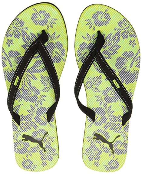 eaa7b3195cd3ce Puma Women s Express WN s Idp Safety Yellow and Black Flip-Flops and House  Slippers -