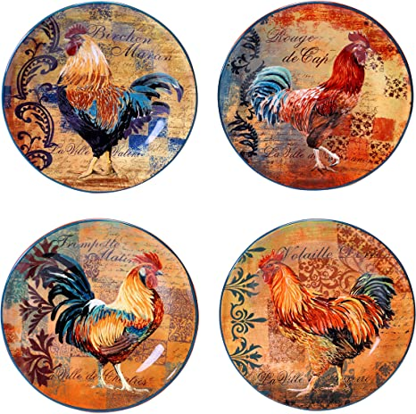 Certified International Tuscan Rooster Soup//Cereal Bowls Assorted Designs Set of 4 by Certified International 8.75-Inch