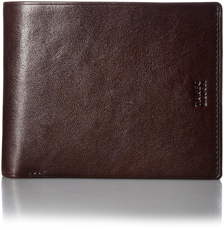 [タケオキクチ] 二つ折り財布 中ベラ付 アルド 177624 B00BCS7MI2 チョコ