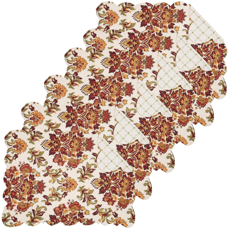 Agnes Tabletop親 Rectangular Placemat Set of 6 グリーン 862621957S6 Rectangular Placemat Set of 6  B0799QG7HD
