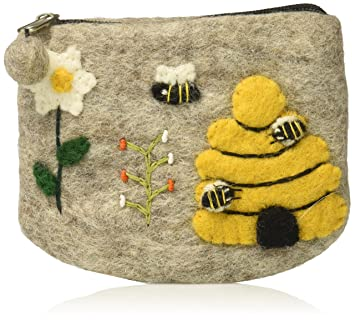 Amazon.com: Miel cámara Naturals lana Bee Bag Pouch: Beauty