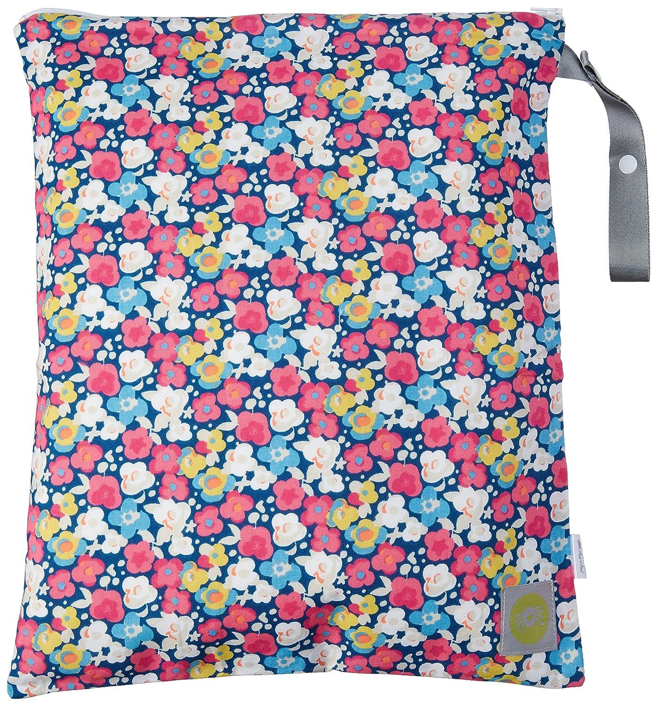 Itzy Ritzy Travel Happens–Bolsa con cremallera para pañales mojado bolsa con asa, grandes, diseño Pop JellyBean/First Steps WBL2008