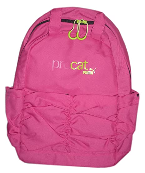 4637cfe919e1 Amazon.com  Puma Procat 2 compartment Pink Backpack with ruched ...