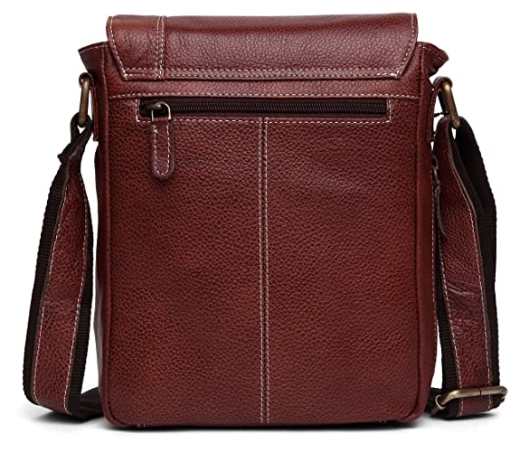 WildHorn Urban Edge Vintage 100% Genuine Leather Messenger Bag DIMENSION   L- 8.5inch H- 10.5inch W- 3inch  Amazon.in  Shoes   Handbags d10055a5b39f0