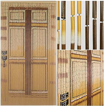 BeadedString Bamboo Beaded Curtain-Hand Painted Natural Bamboo ...