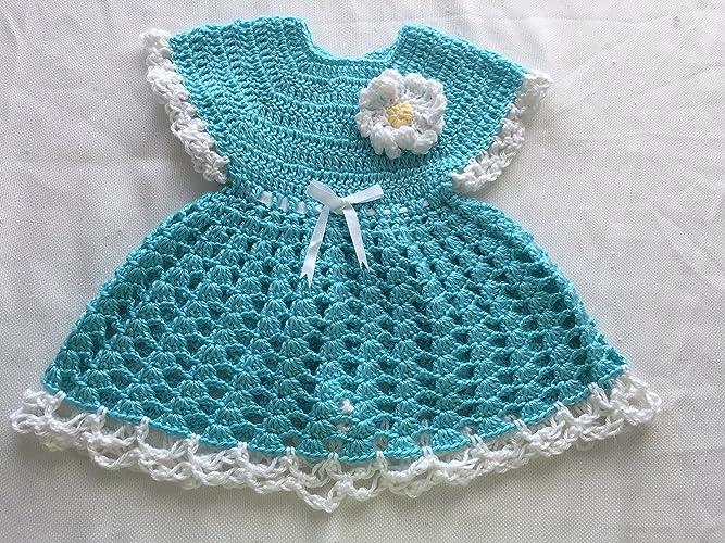 Amazoncom Baby Girl Dress Crochet Baby Dress Baby Shower Gift9