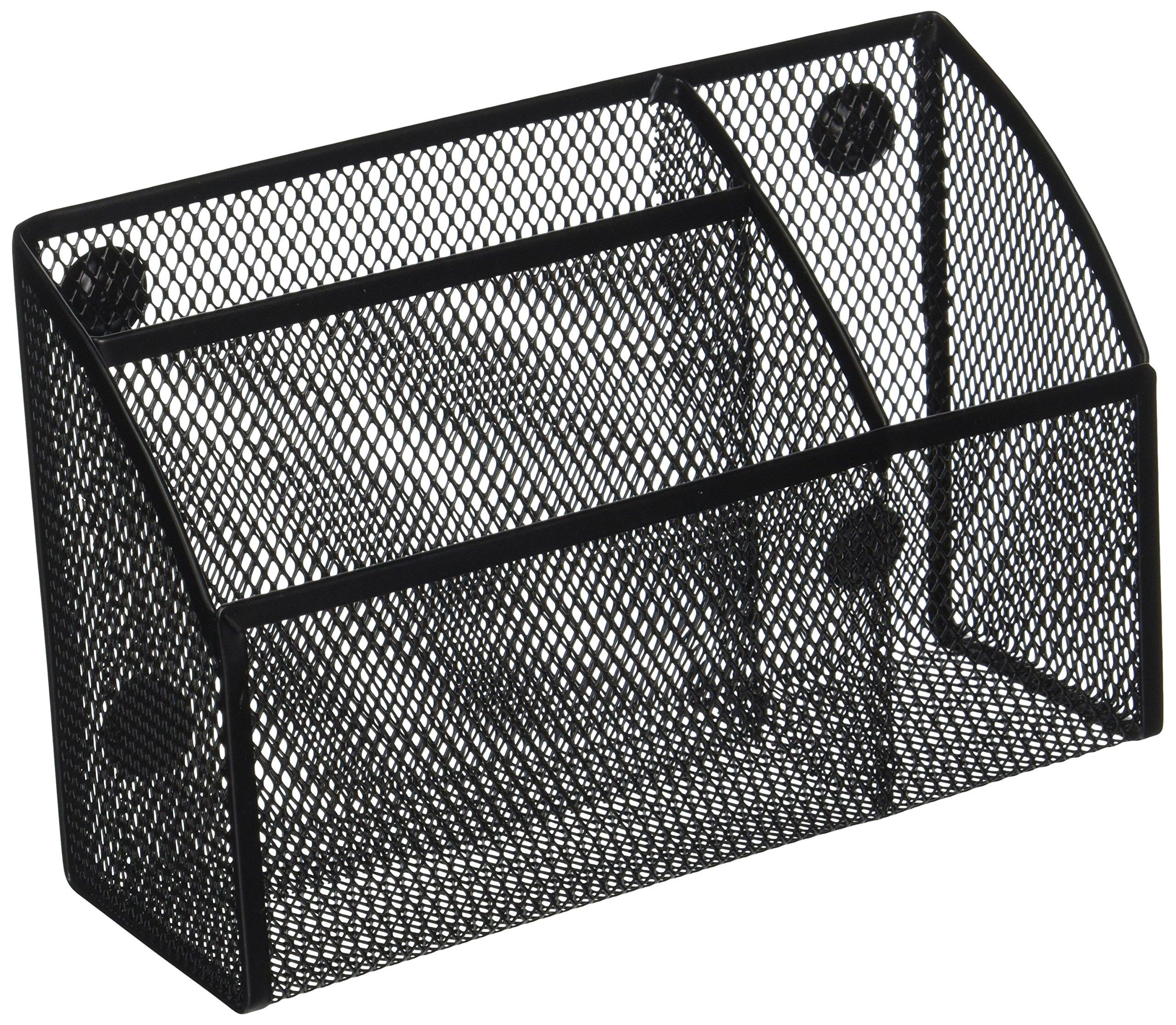 Honey-Can-Do OFC-06211 Mesh Magnetic Organizer, 2.75 x 7.5 x 4.75, Black