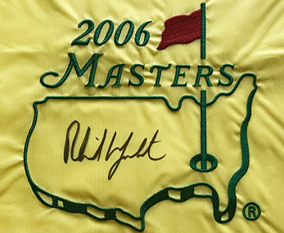 f778c32380e Phil Mickelson signed 2006 Masters flag augusta national golf beckett coa  2019 pga at Amazon s Sports Collectibles Store