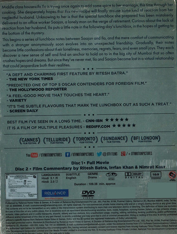 THE LUNCHBOX [2 DISC COLLECTORS EDITION]: Amazon.es: Cine y ...