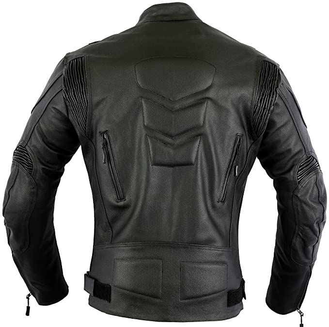 Amazon.com: Mens Impact Leather Motorcycle Motorbike Protection Jacket, XL: Automotive