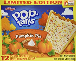 Kellogg's Frosted Pumpkin Pie Pop Tarts Limited Edition - 3 Pack (36 Pastries)