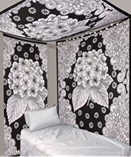 Black White Tapestries Psychedelic Wall Hanging Tapestry Hippie Bohemian Indian