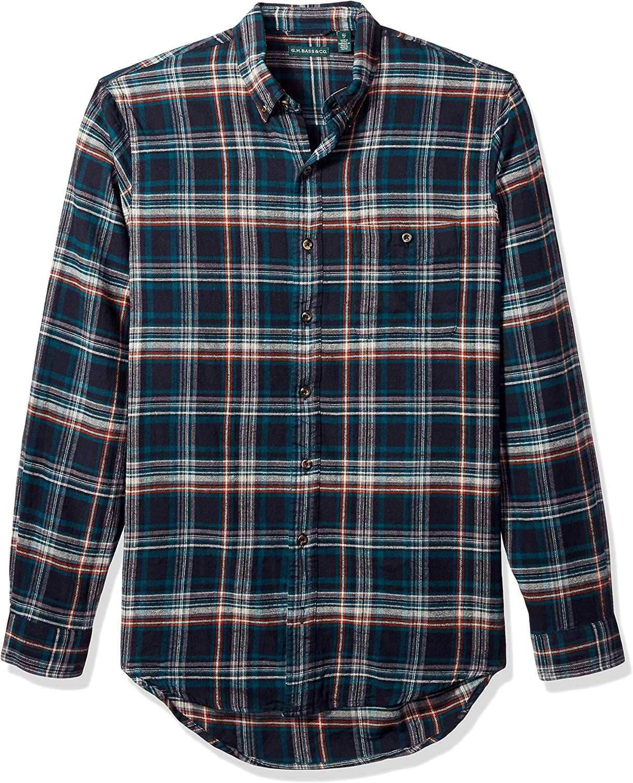 Bass /& Co G.H Mens Big and Tall Fireside Flannels Long Sleeve Button Down Shirt