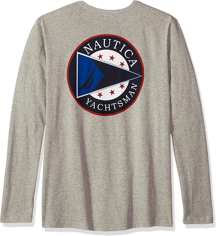 NEW MEN'S NAUTICA S//S GRAPHIC SOLID CREWNECK T-SHIRT GREY PICK A SIZE