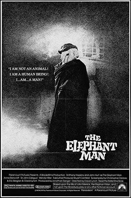 Amazon.com: The Elephant Man (1980) Movie Poster 24x36 inches Thin Border:  Posters & Prints