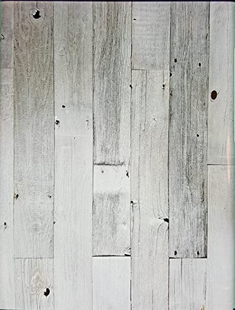 Amazon Com Peel Stick Rustic Reclaimed Barn Wood White Washed