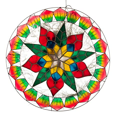 Christmas Lantern.Gift Ko Handmade Ring Sampaguita Parol Christmas Lantern 18 Inch Colored