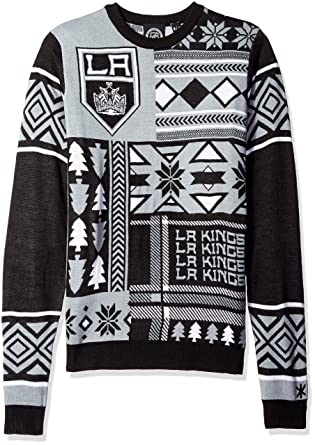 watch 88c67 b5e7f Los Angeles Kings Patches Ugly Crew Neck Sweater Double Extra Large