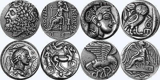 Golden Artifacts Zeus Athene Apollo Nike Griechischen Götter