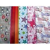 10fogli di carta regalo maschio, femmina, Farfalla, Farfalle, Gufo, motivo: stella, Tartan (2fogli ciascuno dei 5Design)