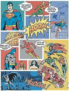 Galerie 24 Justice League Comic Vintage Wallpaper Amazoncouk