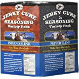 Hi Mountain Jerky Seasoning Variety Pack No. 2 Contains Five Flavors in Pepper, Sweet & Spicy, Mandarin Teriyaki, Inferno and Pepperoni Blend Variants Seasons Up To 20 Lbs Of Meat