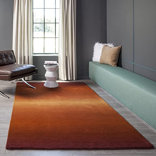 Momeni Rugs Metro Collection, 100 Wool Hand Loomed Contemporary Area Rug, 2 3 x 3 9 , Paprika