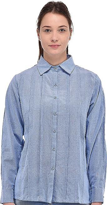 Cotton Lane Camisa Casual Algodón Algodón Crudo ...