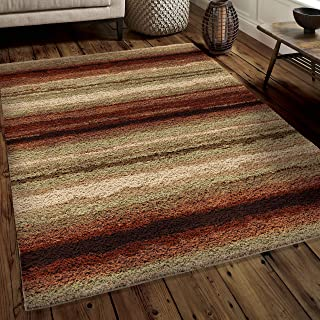 """product image for Orian Rugs Impressions Shag Sundown Area Rug, 7'10"""" x 10'10"""", Red"""