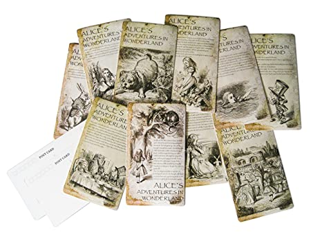 Amazon christmas holiday greeting cards set of 10 alice in the christmas holiday greeting cards set of 10 alice in the wonderland postcards m4hsunfo