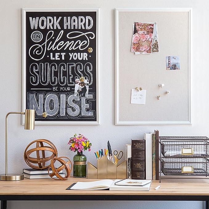 Amazon.com : U Brands Magnetic Chalkboard, 20 x 30 Inches, White ...