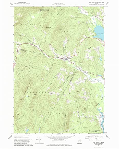 Topo Map Of Maine.Amazon Com Yellowmaps East Dixfield Me Topo Map 1 24000 Scale