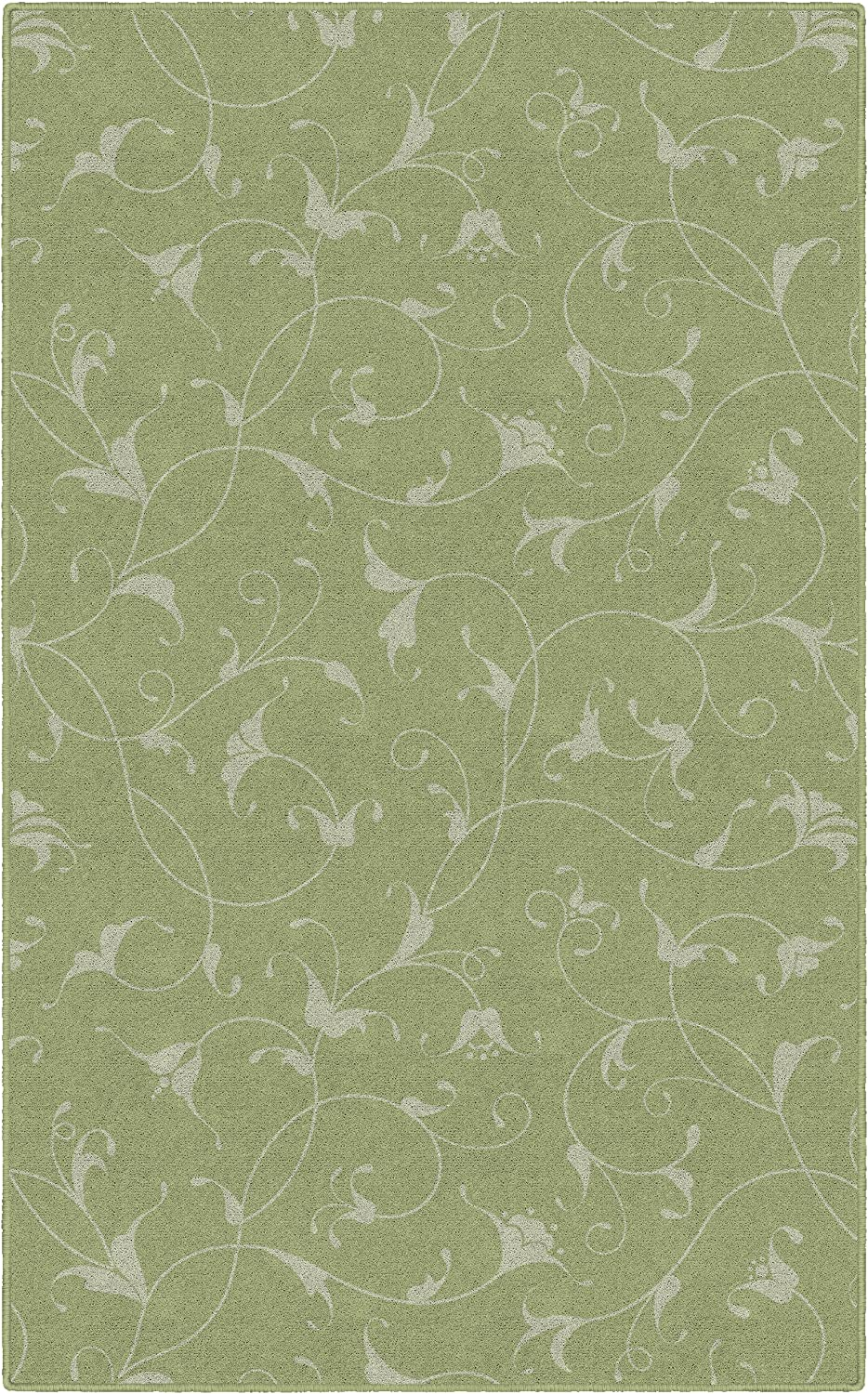 Brumlow Mills Caitlin Simple Home Indoor Area Rug with Floral Print Pattern, Perfect for Any Living Room Decor, Dining Room, Kitchen Rug, or Bedroom Area Rug, 3'4