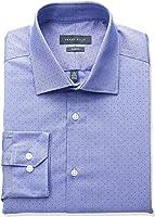 Perry Ellis Collection Men's Slim Fit Dobby Stripe Non-Iron Dress Shirt