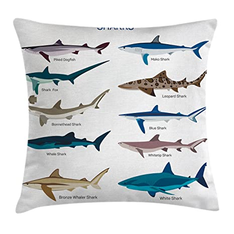 Amazon Ambesonne Shark Throw Pillow Cushion Cover Collection Delectable Shark Decorative Pillow