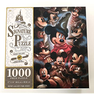 DisneyParks Mickey Mouse Through The Years 90th Anniversary 1000 Piece Signature Puzzle: Toys & Games