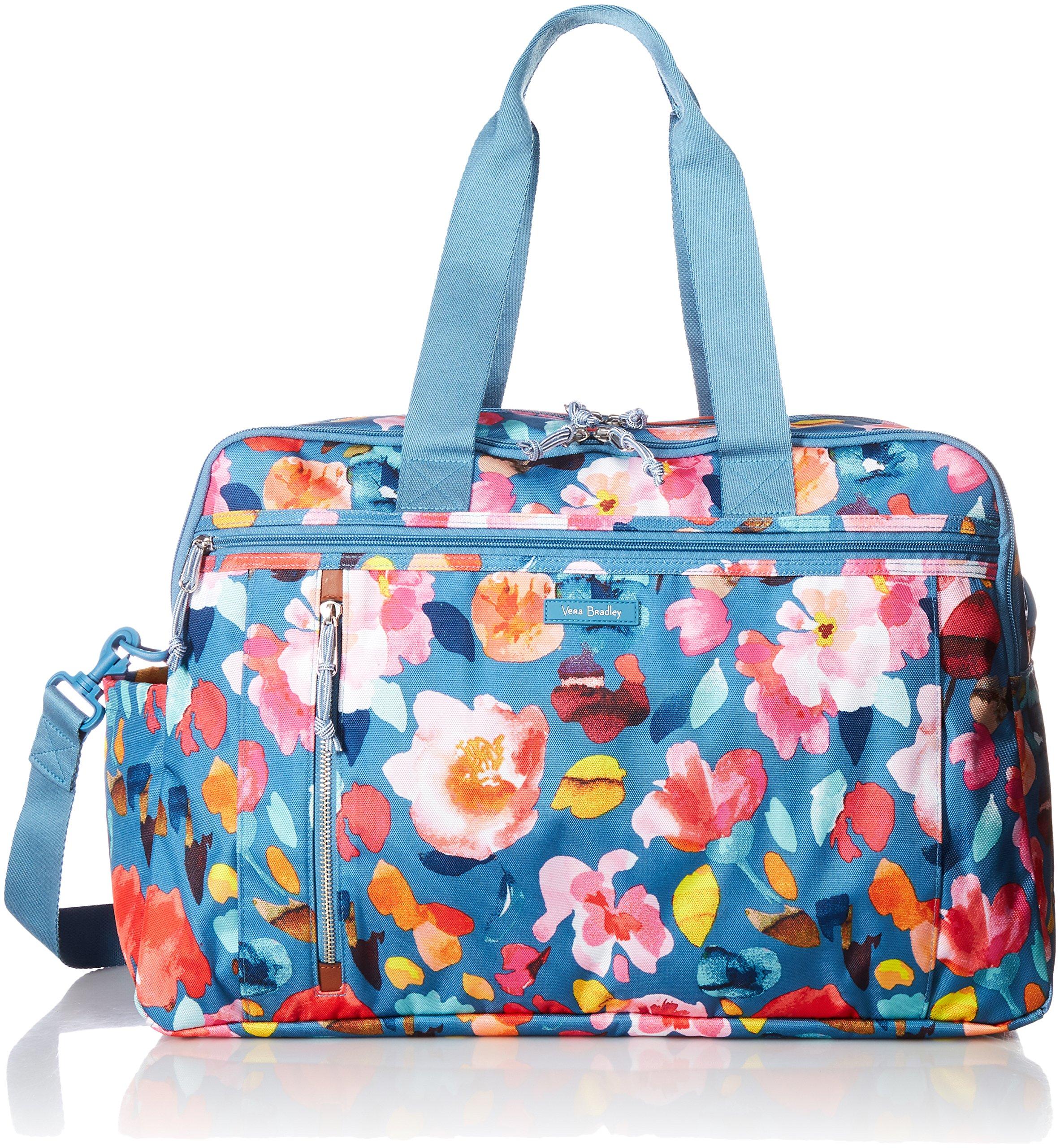 Vera Bradley Lighten up Weekender Travel Bag, Polyester, Scattered Superbloom,One size