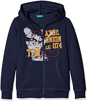 United Colors of Benetton Jacket W/Hood L/s, Chaqueta Niños, Azul