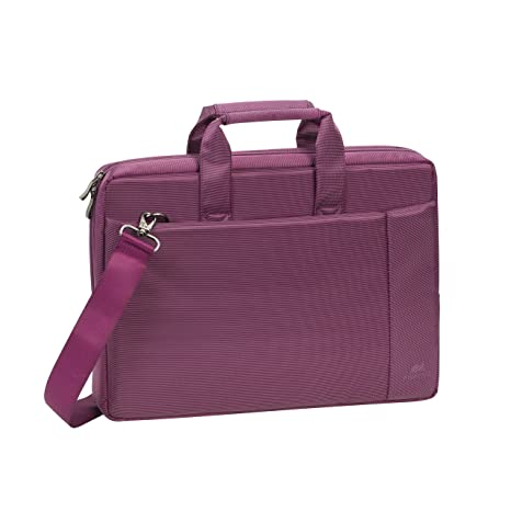 4ed92ec8a63e Rivacase 15.6 inch Stylish Laptop Shoulder Bag w/Padded Compartment - Violet