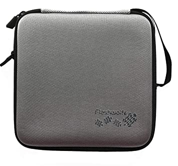 Estuche Flashwoife de nailon EVA en maletín protector duro plateado para grabadora externa de DVD, CD y Blu-Ray