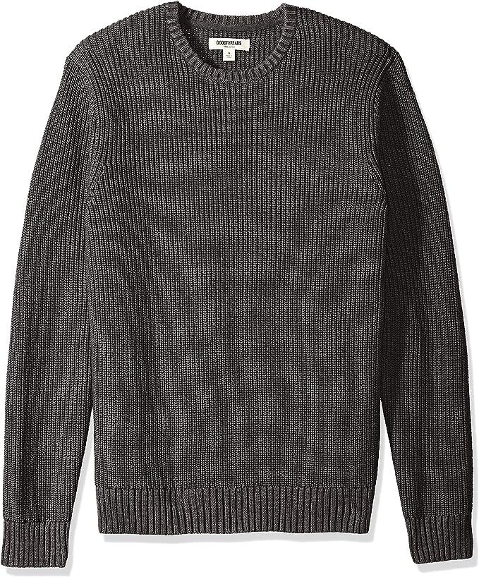 men's lined crewneck sweater